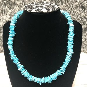 LIGHT BLUE PUKA SEASHELL NECKLACE